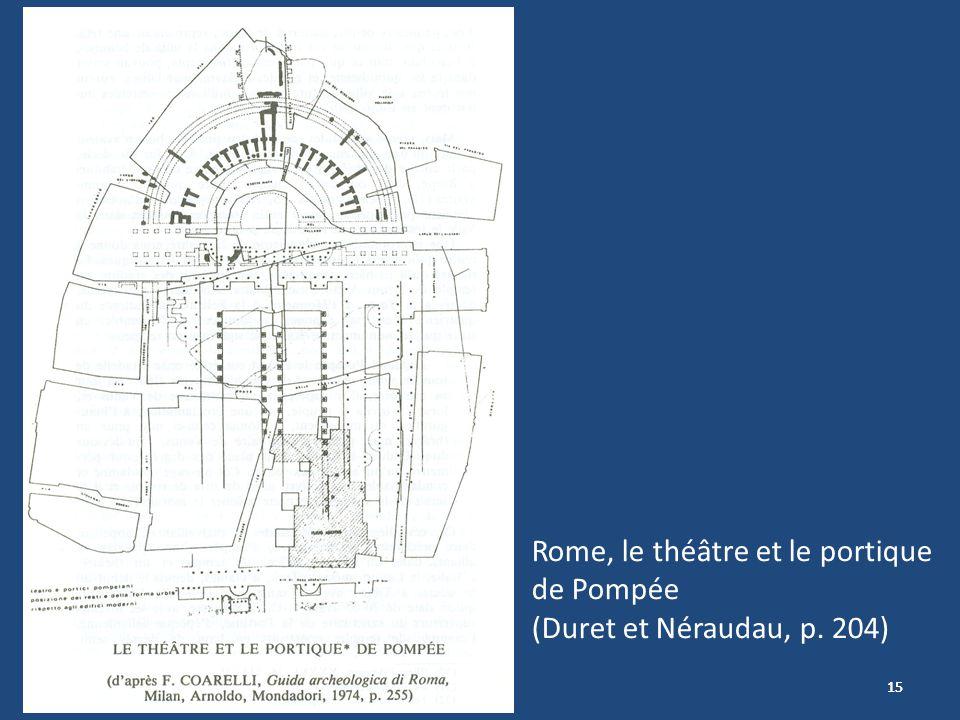 Rome, le théâtre et le portique de Pompée (Duret et Néraudau, p. 204)