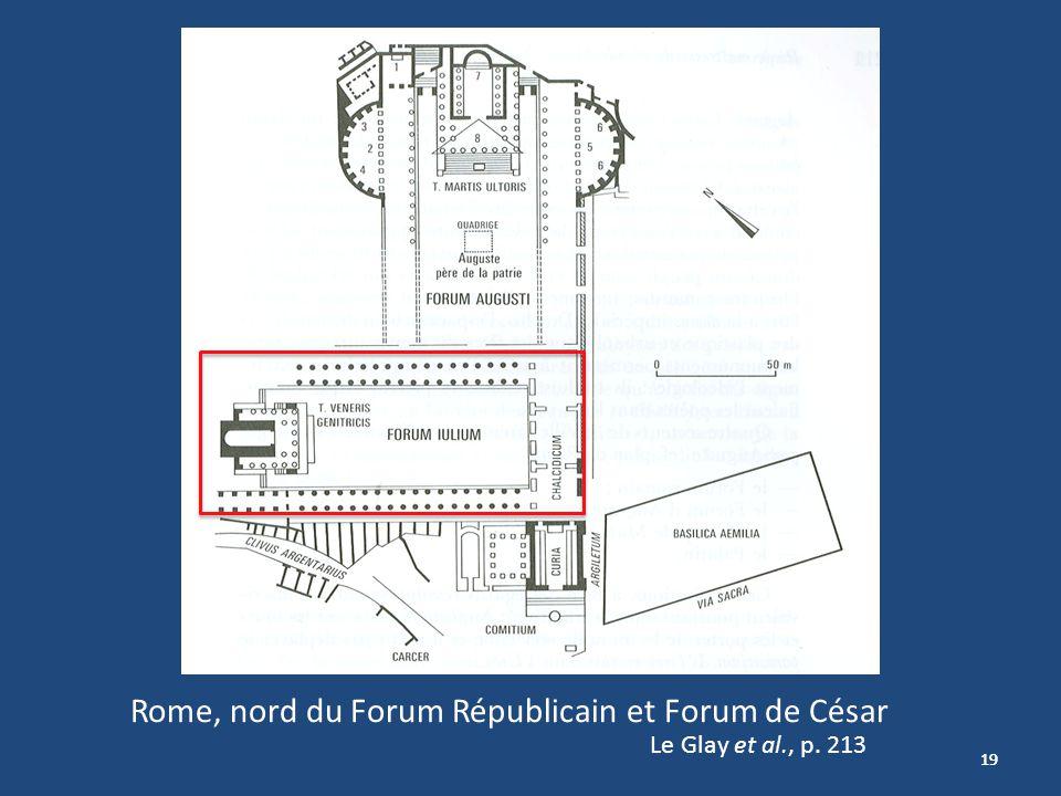 Rome, nord du Forum Républicain et Forum de César