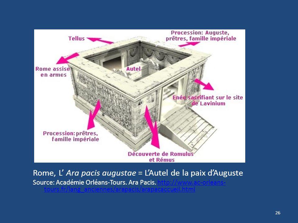 Rome, L' Ara pacis augustae = L'Autel de la paix d'Auguste