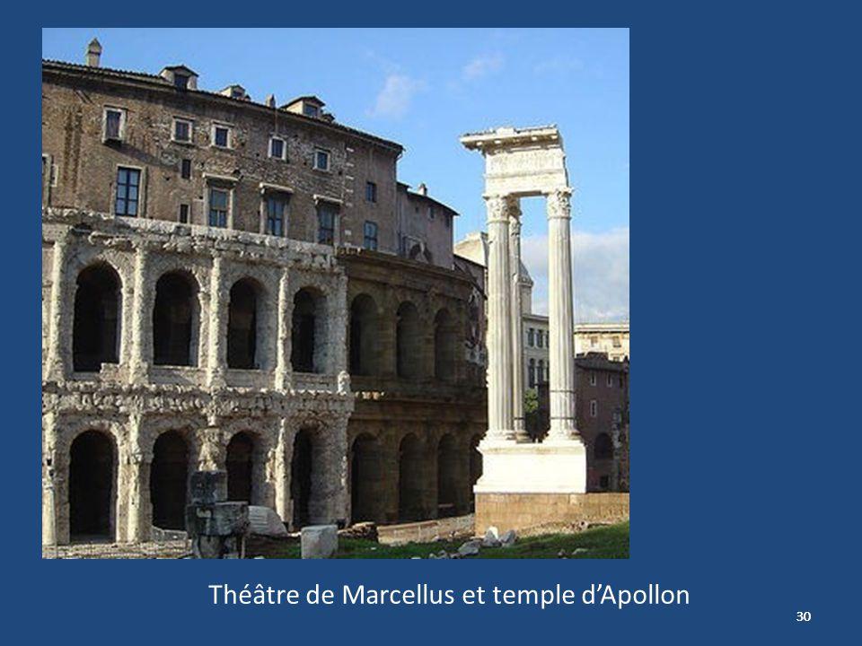 Théâtre de Marcellus et temple d'Apollon