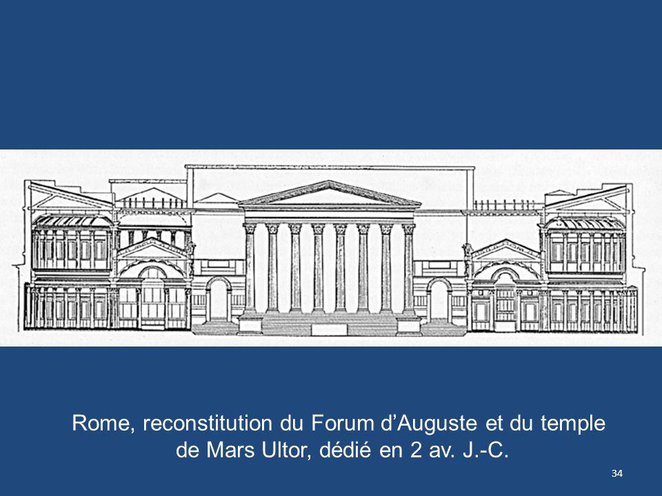 Rome, reconstitution du Forum d'Auguste et du temple