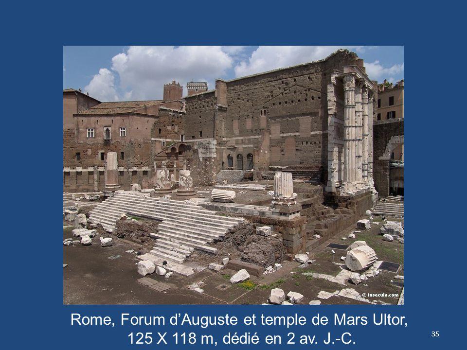 Rome, Forum d'Auguste et temple de Mars Ultor, 125 X 118 m, dédié en 2 av. J.-C.