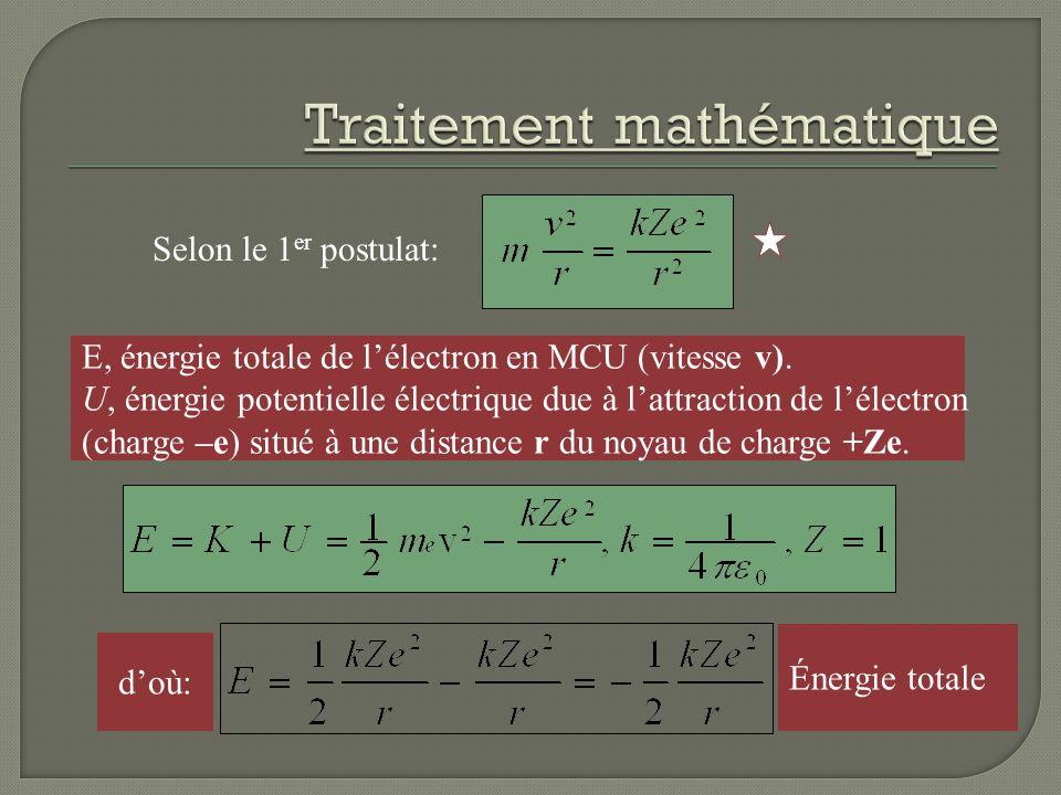 Traitement mathématique