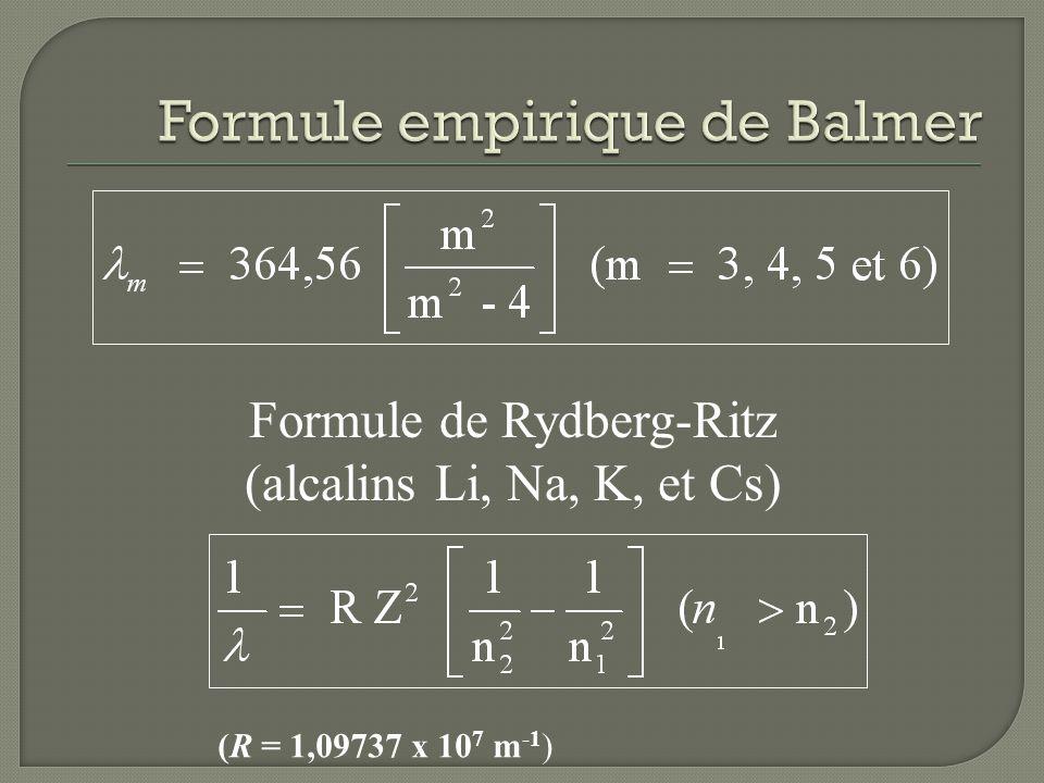 Formule empirique de Balmer