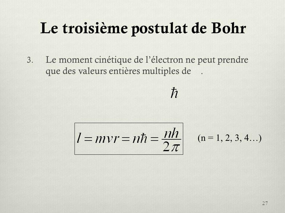 Le troisième postulat de Bohr