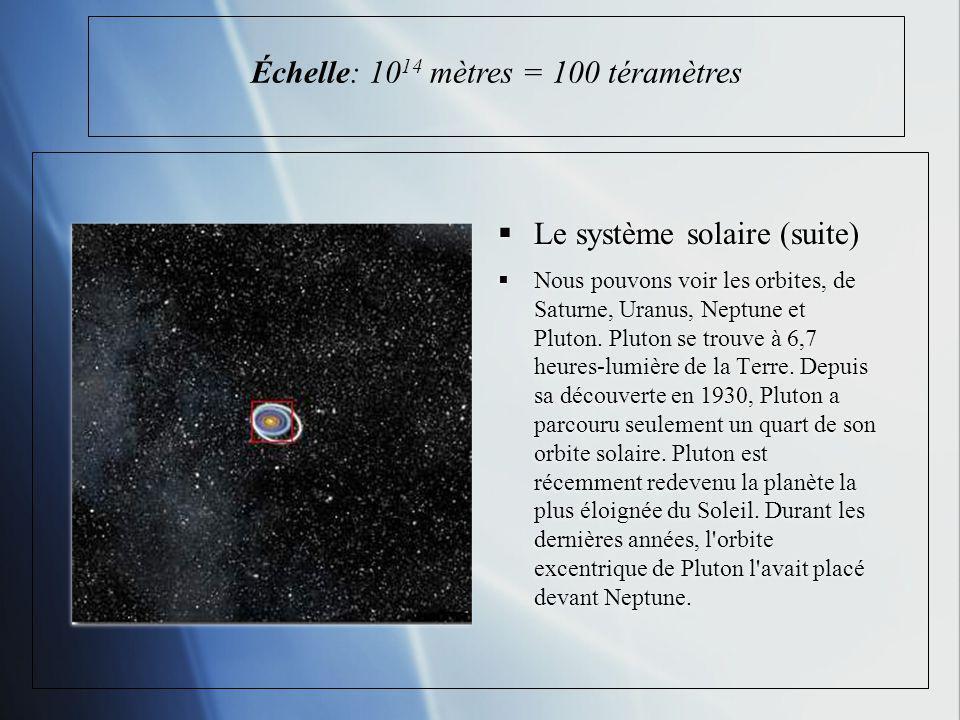 Échelle: 1014 mètres = 100 téramètres