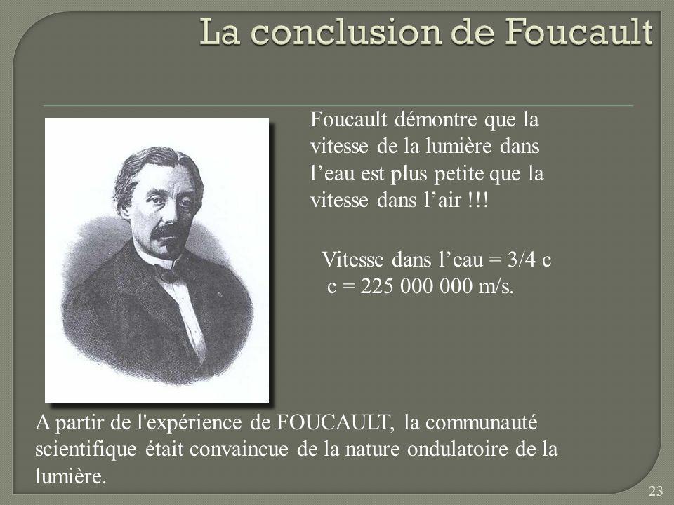 La conclusion de Foucault