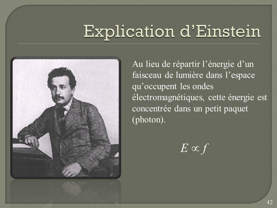 Explication d'Einstein