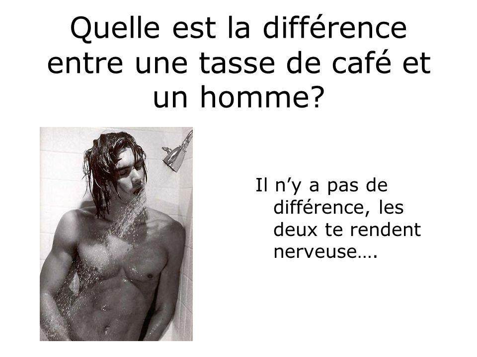 Quelle est la différence entre une tasse de café et un homme