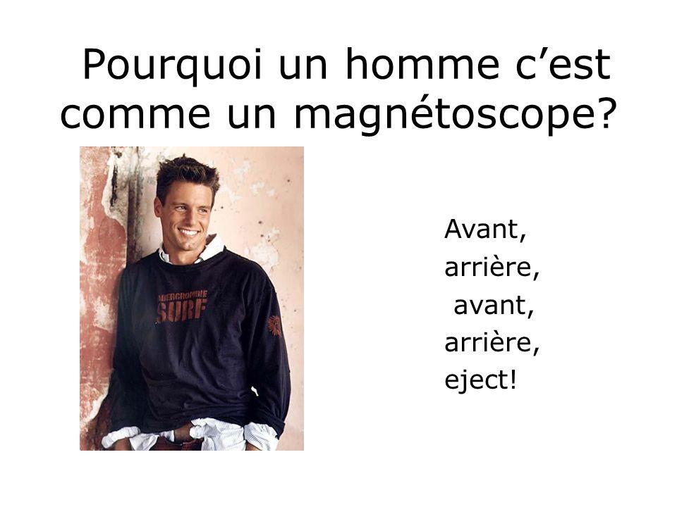 Pourquoi un homme c'est comme un magnétoscope