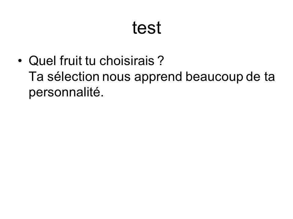test Quel fruit tu choisirais Ta sélection nous apprend beaucoup de ta personnalité.
