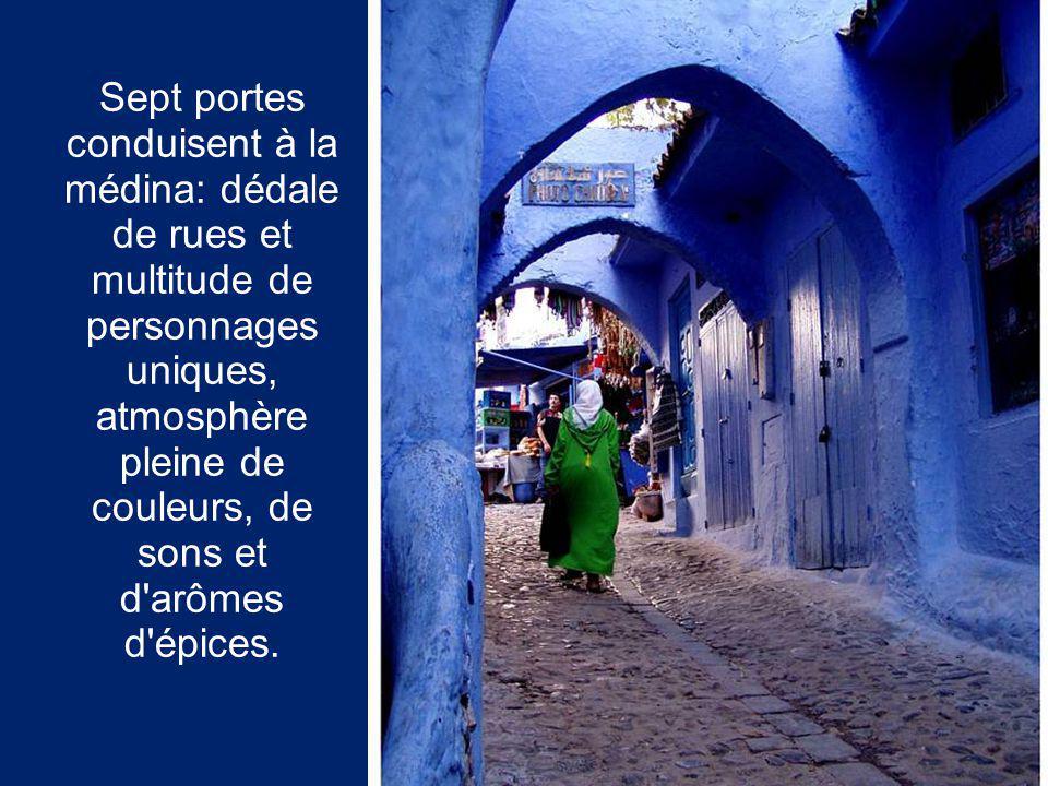 Sept portes conduisent à la médina: dédale de rues et multitude de personnages uniques, atmosphère pleine de couleurs, de sons et d arômes d épices.