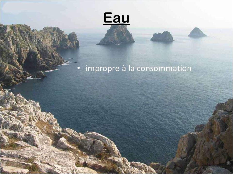 Eau impropre à la consommation