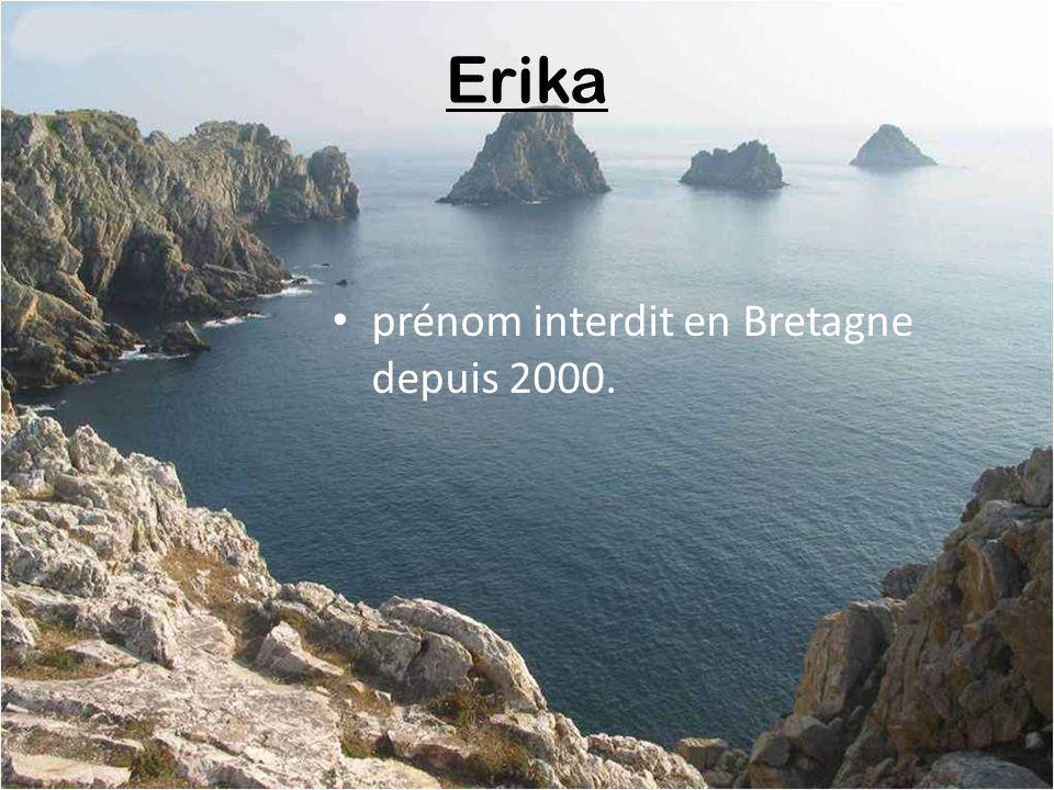 Erika prénom interdit en Bretagne depuis 2000.