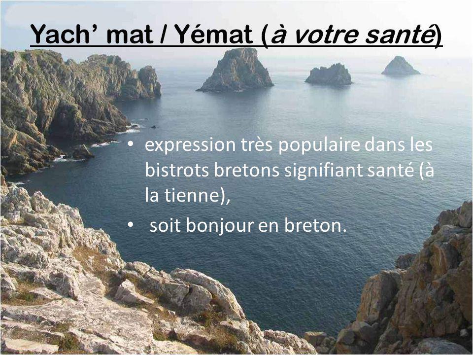 Yach' mat / Yémat (à votre santé)