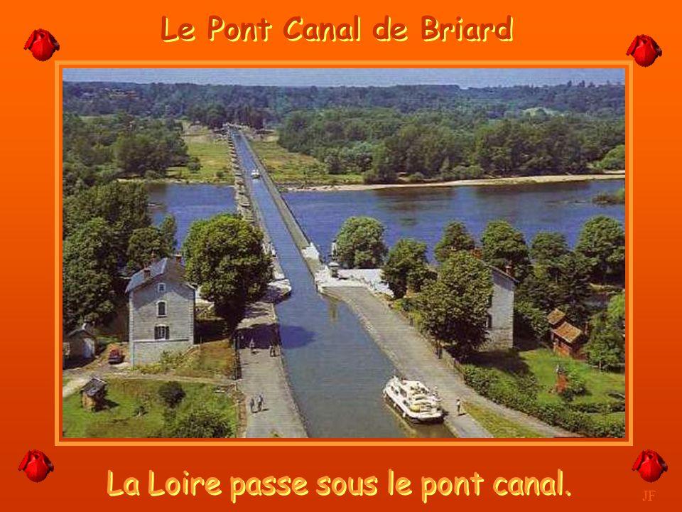 La Loire passe sous le pont canal.