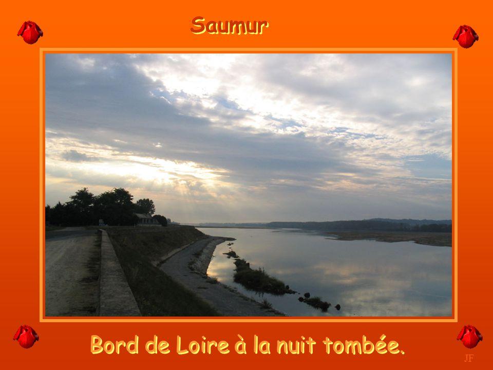 Bord de Loire à la nuit tombée.