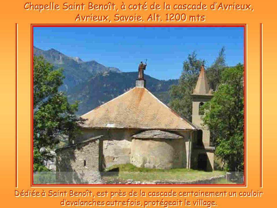 Chapelle Saint Benoît, à coté de la cascade d'Avrieux, Avrieux, Savoie