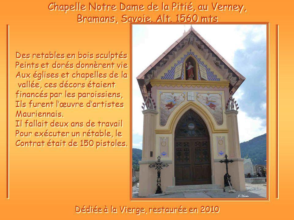 Dédiée à la Vierge, restaurée en 2010