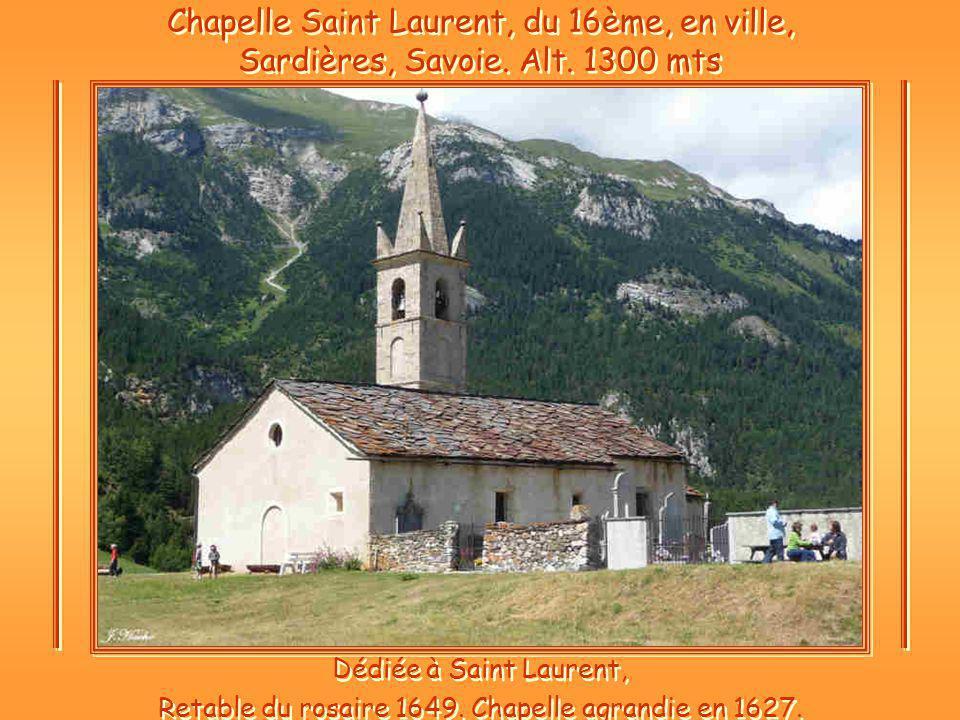 Retable du rosaire 1649. Chapelle agrandie en 1627.