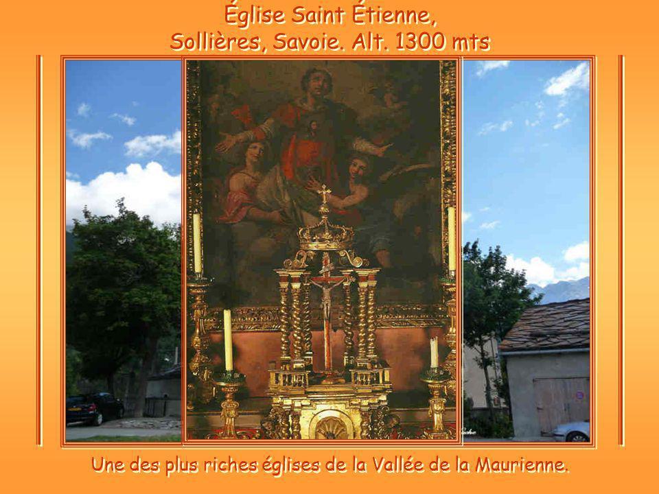 Église Saint Étienne, Sollières, Savoie. Alt. 1300 mts
