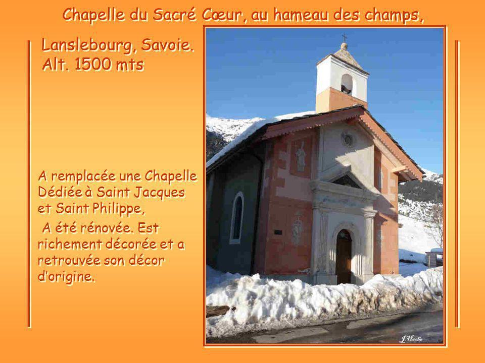 Chapelle du Sacré Cœur, au hameau des champs,