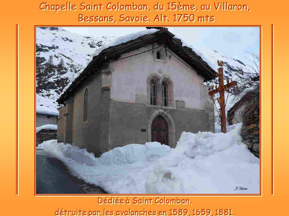 Chapelle Saint Colomban, du 15ème, au Villaron, Bessans, Savoie. Alt