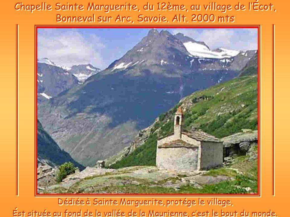 Dédiée à Sainte Marguerite, protége le village,