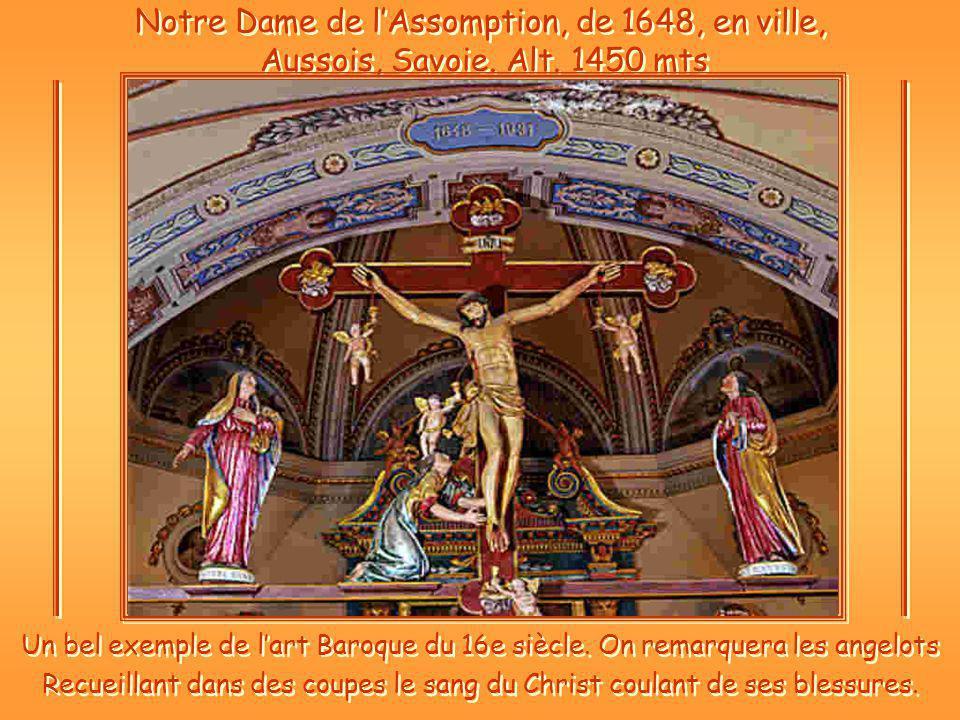 Notre Dame de l'Assomption, de 1648, en ville, Aussois, Savoie. Alt