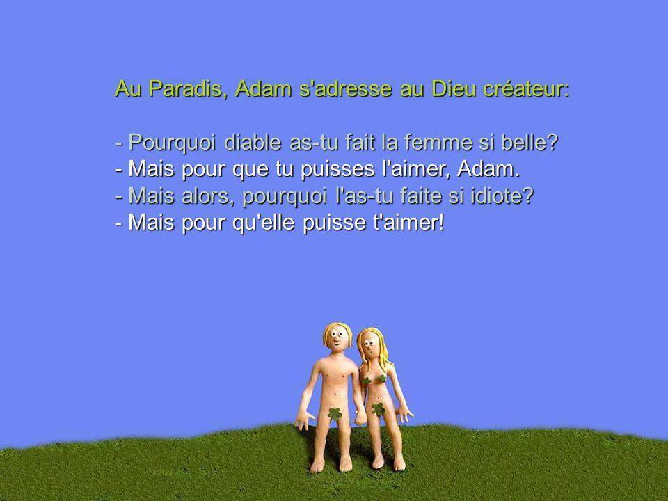 Au Paradis, Adam s adresse au Dieu créateur: