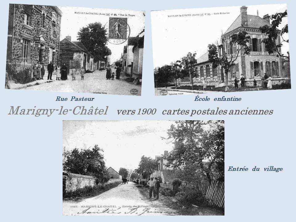 . Rue Pasteur École enfantine Marigny-le-Châtel vers 1900 cartes postales anciennes