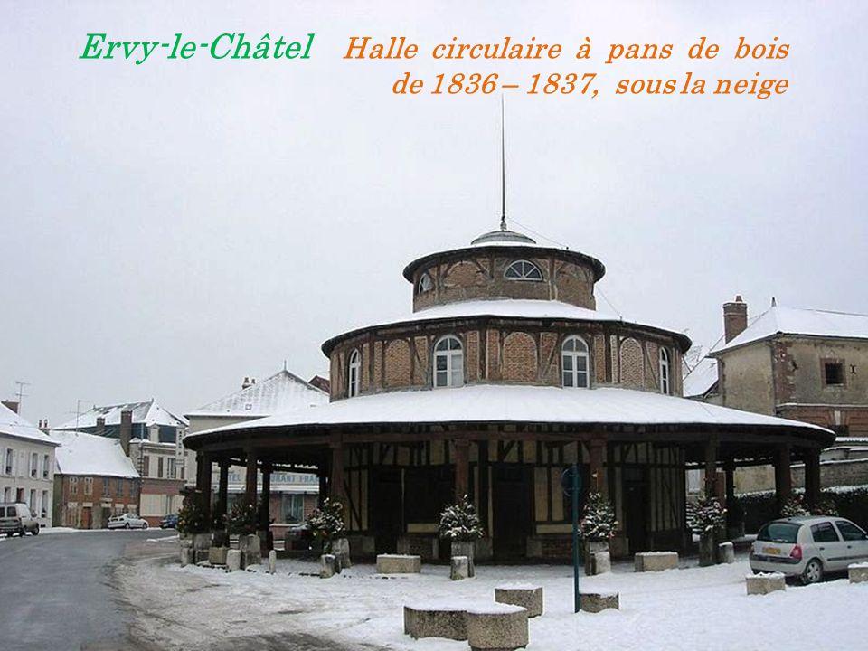 Ervy-le-Châtel Halle circulaire à pans de bois