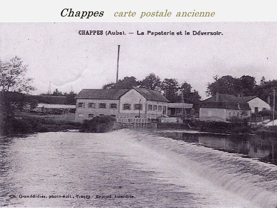 Chappes carte postale ancienne