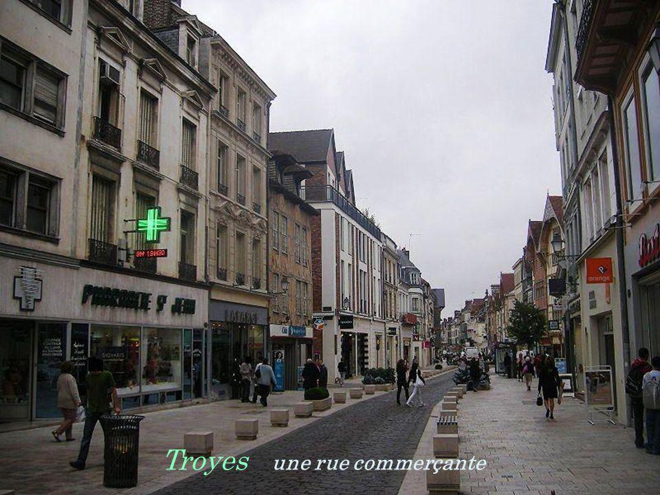 Troyes une rue commerçante