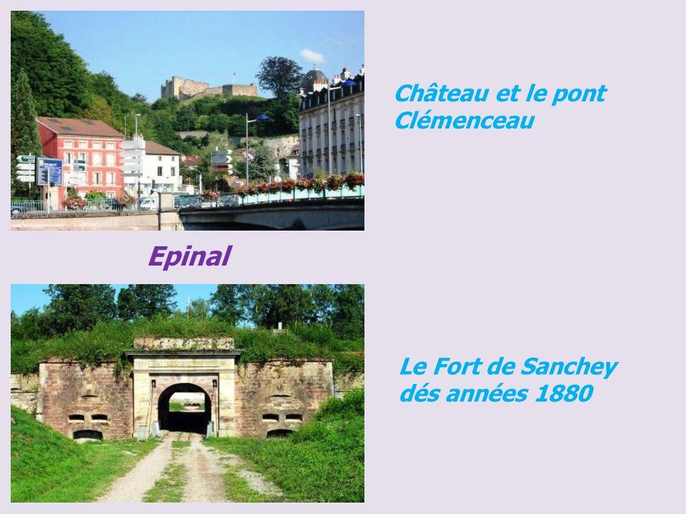 Epinal Château et le pont Clémenceau