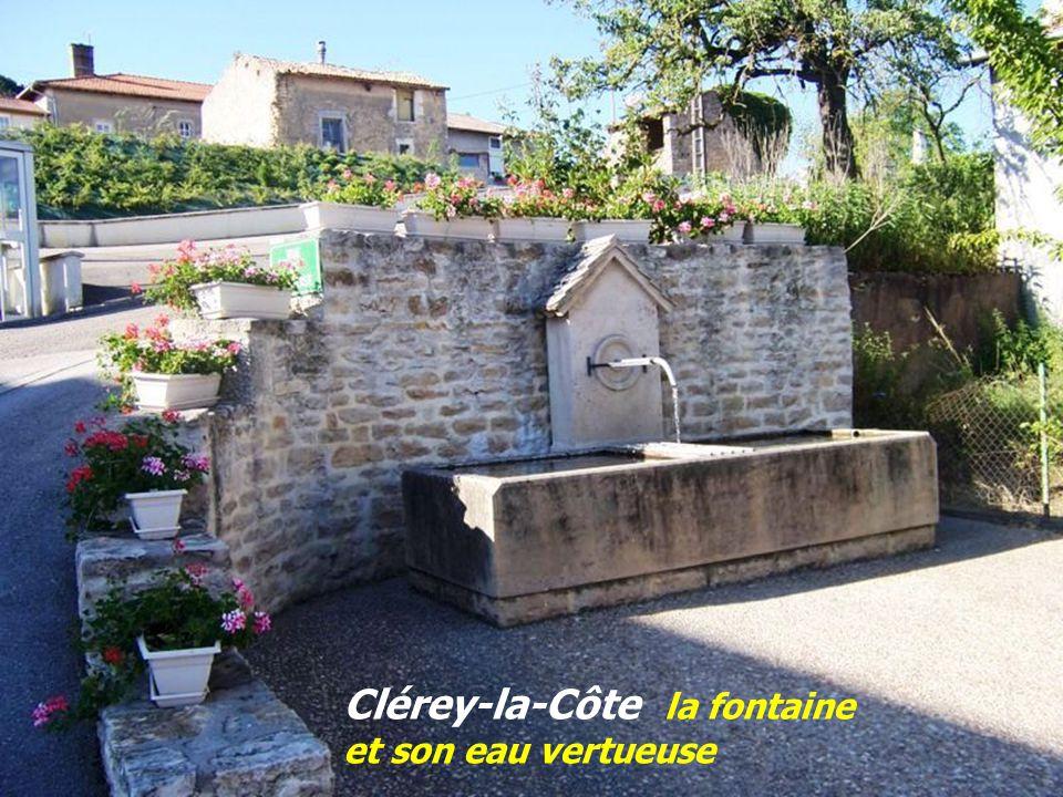Clérey-la-Côte la fontaine et son eau vertueuse