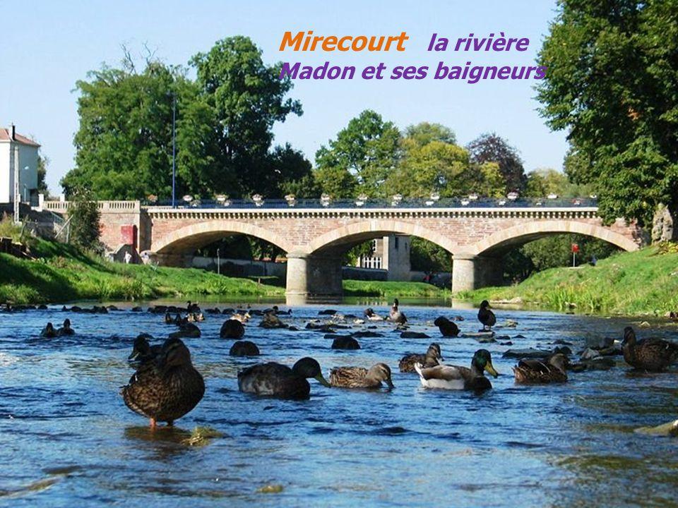 Mirecourt la rivière Madon et ses baigneurs