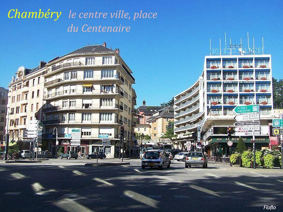 Chambéry le centre ville, place . du Centenaire
