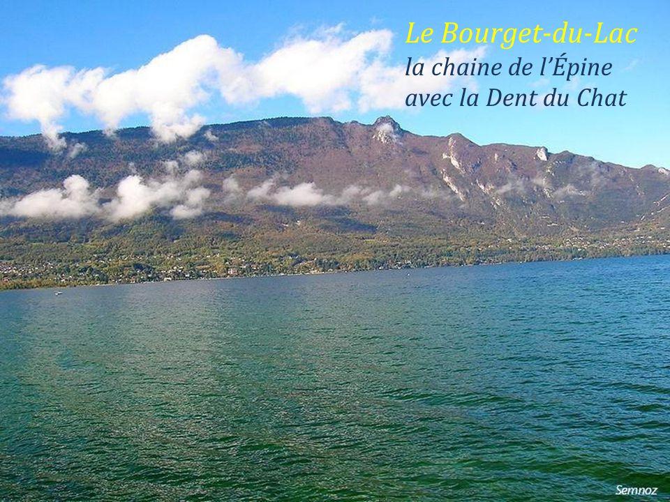 Le Bourget-du-Lac la chaine de l'Épine avec la Dent du Chat