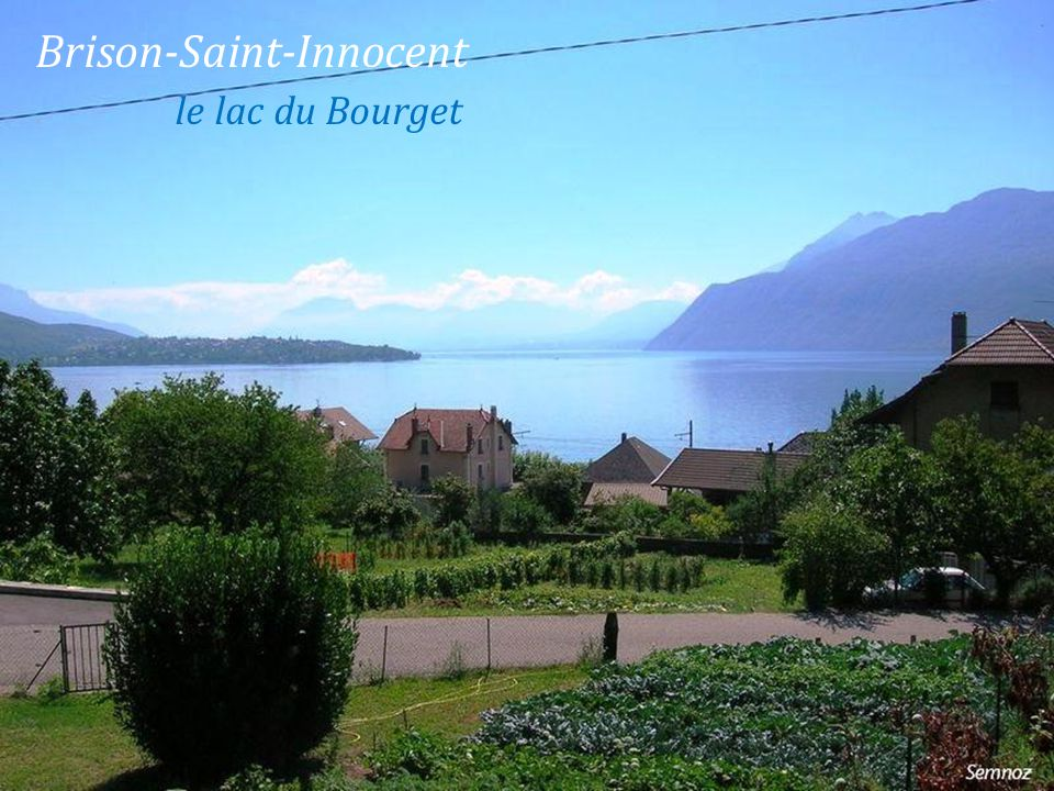 Brison-Saint-Innocent . le lac du Bourget