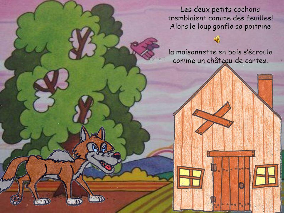 la maisonnette en bois s'écroula comme un château de cartes.