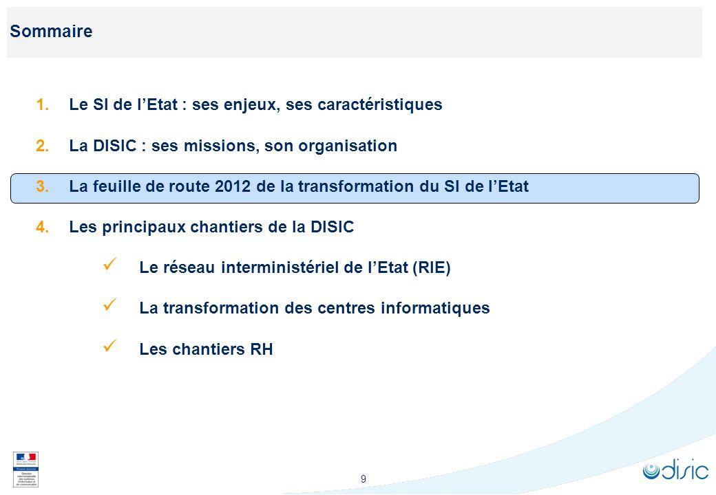 La feuille de route 2012 de la transformation du SI de l'Etat : les objectifs à fin 2012