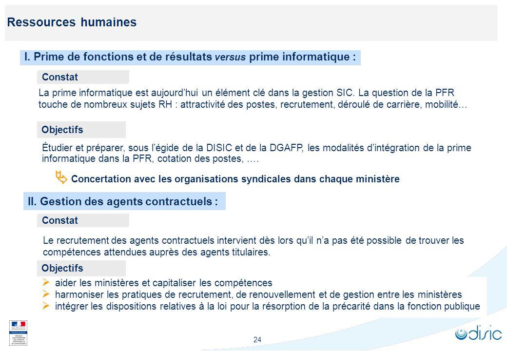 Ressources humaines III. Formalisation d'une offre croisée de formations. Constat. Cartographie en cours des formations.