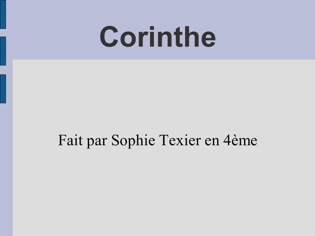 Fait par Sophie Texier en 4ème