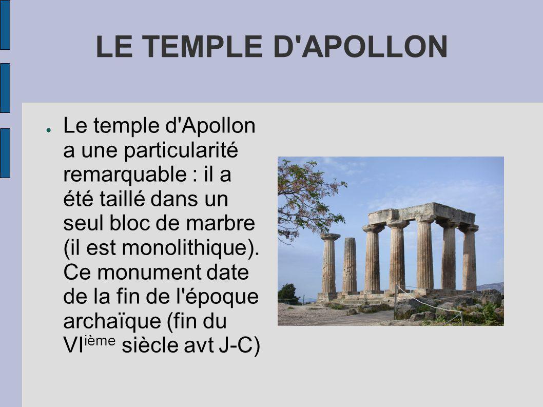 LE TEMPLE D APOLLON