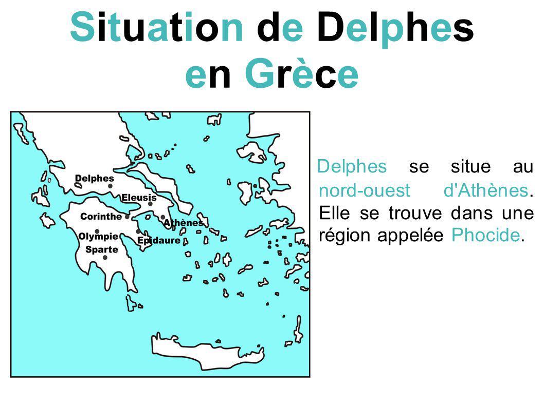 Situation de Delphes en Grèce
