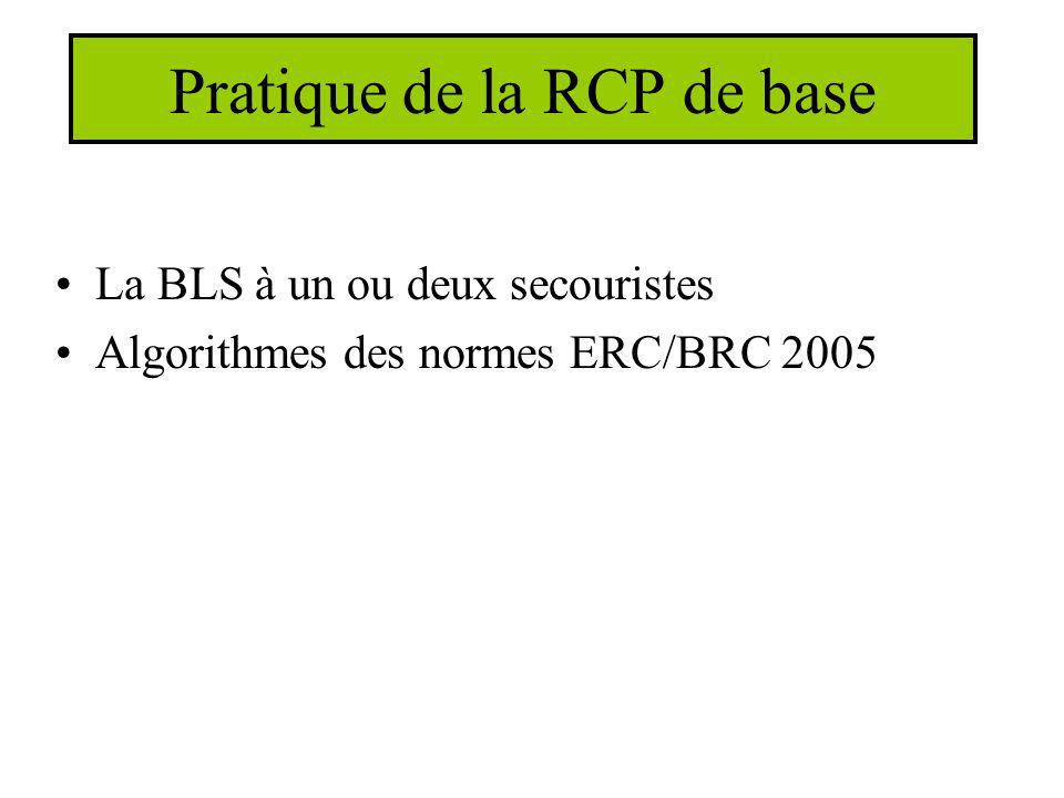 Pratique de la RCP de base