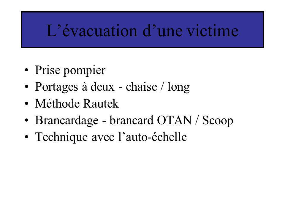 L'évacuation d'une victime
