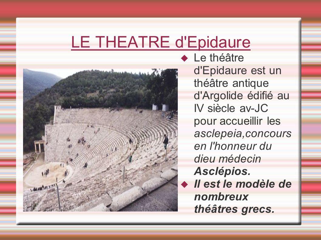 LE THEATRE d Epidaure