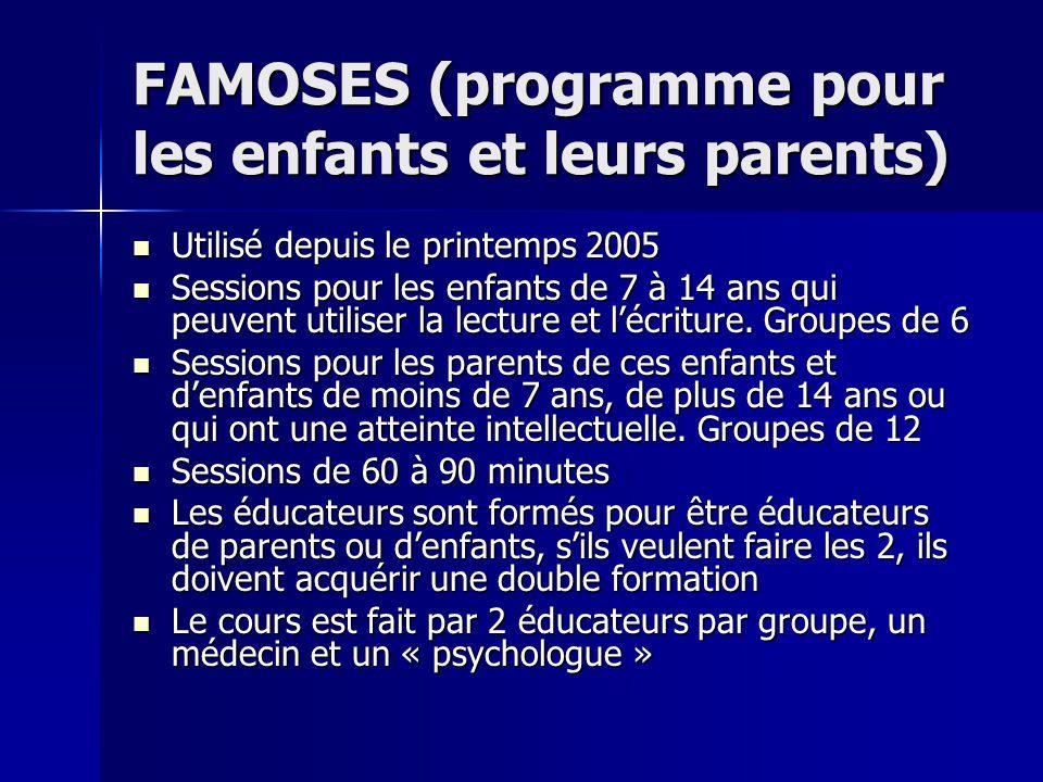 FAMOSES (programme pour les enfants et leurs parents)